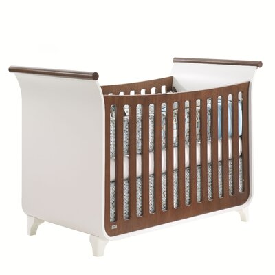 Tulip Piccolo Sleigh Crib with Toddler Gate