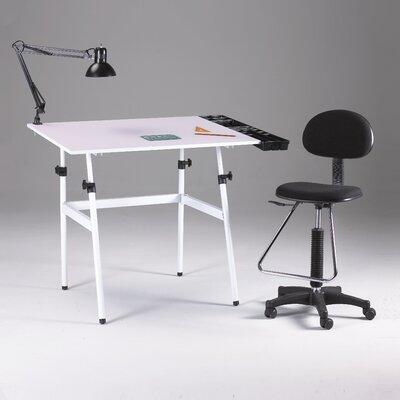 Martin Universal Design Berkeley 4 Piece Melamine Drafting Table Set with Chair