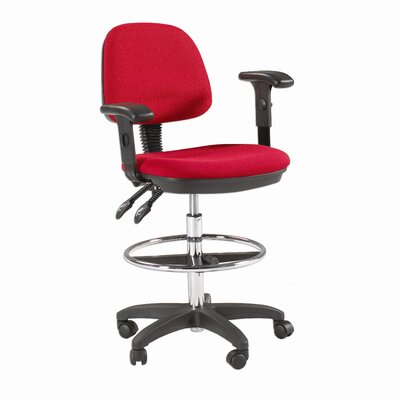 Height Adjustable Drafting Seating with Task Arm
