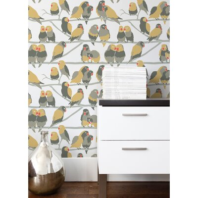 Aimee Wilder Designs Lovebirds Wallpaper by Aimée Wilder