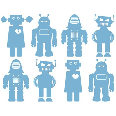 Aimee Wilder Designs Big Robots Wallpaper by Aimée Wilder