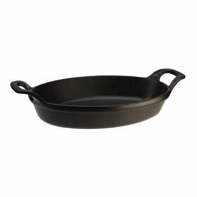 Oval 0.75 qt. Roasting Dish in Black Matte