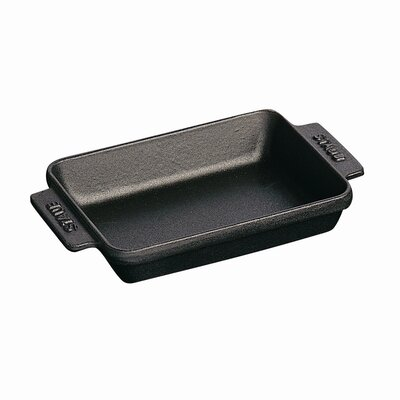 Staub Mini Rectangular 8 oz. Serving Dish in Black Matte