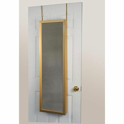 Over the Door Jewelry Armoire Mirror Cabinet in Gold