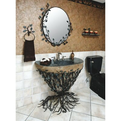 Aspen Forest Pedestal Bathroom Sink Set - VAN-EMB-3240