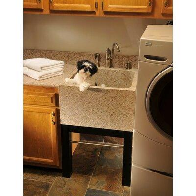 ... beige reliance 25 x 22 jentle jet laundry charm deep laundry sink