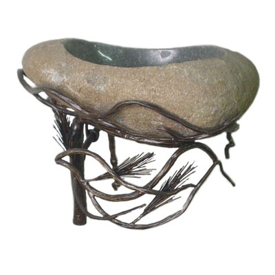 Organic Suites Wall Mount Bathroom Sink with Boulder Basin - WL-PINLF