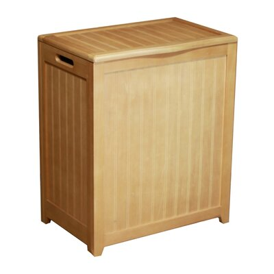 Oceanstar Design Bowed Front Plywood Laundry Hamper