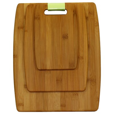 Oceanstar Design 3-Piece Bamboo Cutting Board Set