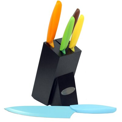 Oceanstar Design 6 Piece Non Stick Knife Block Set