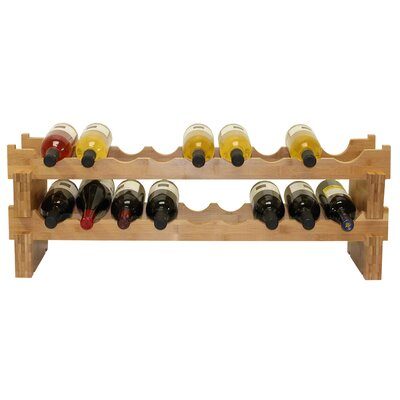 Oceanstar Design 18 Bottle Stackable Wine Rack