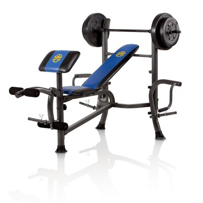 Marcy Standard Weight Adjustable Olympic Bench With 80 Lbs Weight Set Reviews Wayfair