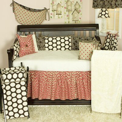 Raspberry Dot 4 Piece Crib Bedding Set