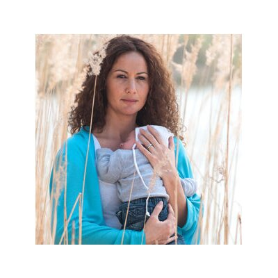 Lassig Bags All Over Multifunctional Nursing Wrap in Azur