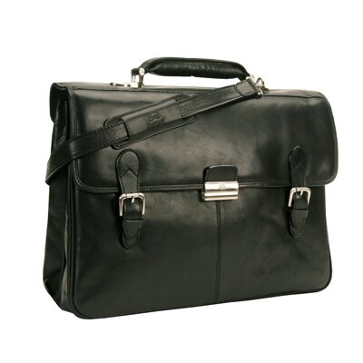 Green Classic European Leather Briefcase