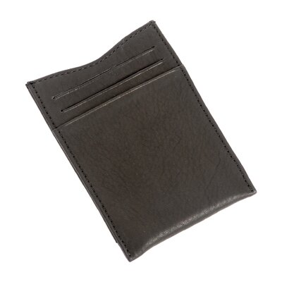 Contatto Collection Executive Money Clip with Credit Card Wallet in Black