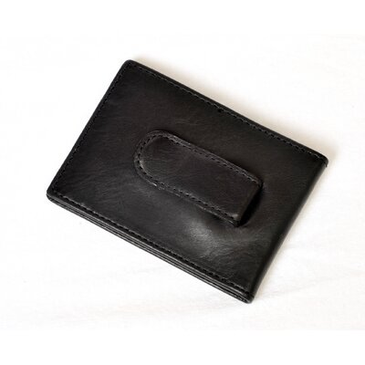 Green Prima Executive Money Clip with Credit Card Flap