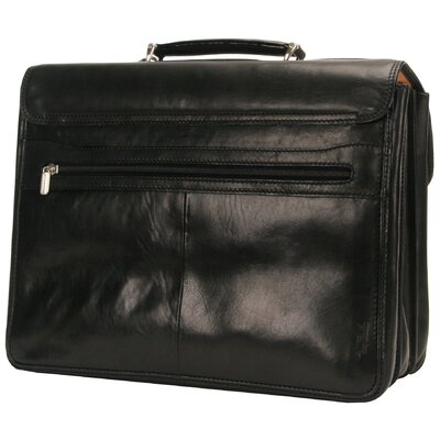 "Tony Perotti The Green Collection Bella Russo 17"" Laptop Triple Compartment Briefcase"
