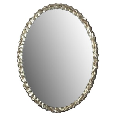 "Dimond Lighting 35"" Emery Hill Mirror in Silver Leaf"