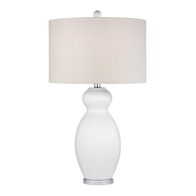 """Dimond Lighting Pear Gourd 28"""" H Table Lamp with Drum Shade"""