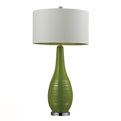 "Dimond Lighting HGTV Home 27"" H Curved Ceramic and Steel Table Lamp"