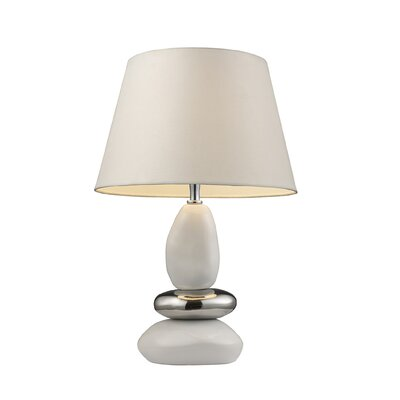 Dimond Lighting Elemis One Light Table Lamp in White and Chrome