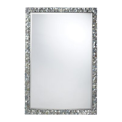Dimond Lighting Island Falls Mirror in Silver Mother Of Pearl Shell