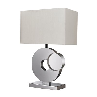 "Dimond Lighting Tuba 21"" H Table Lamp with Rectangle Shade"