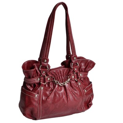 Cosmos Snakeskin Embossed Faux Leather Large Tote Bag