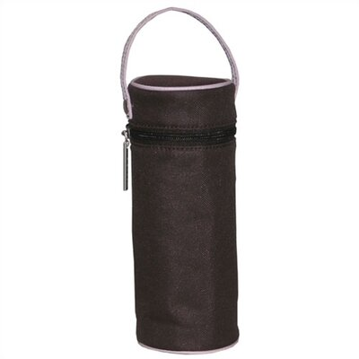 Kalencom Insulated Bottle Bag in Chocolate Brown and Pink