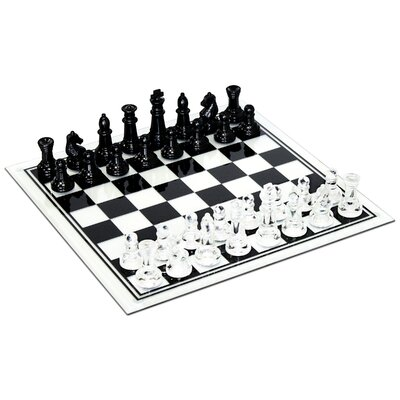 Wood Expressions Glass Chess Set