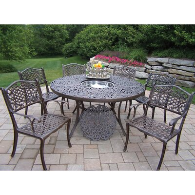 Oakland Living Mississippi 7 Piece Dining Set with Cooler Insert