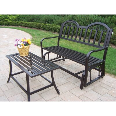 Oakland Living Rochester 2 Piece Bench Seating Group