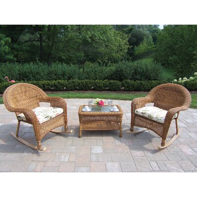 Oakland Living 3 Piece Rocker Seating Group