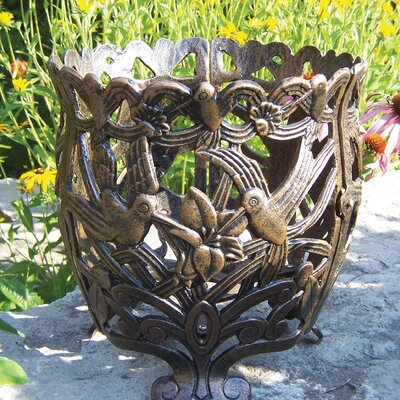 Hummingbird Round Flower Pot Planter