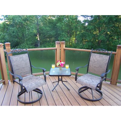 Oakland Living Cascade 3 Piece Chat Set