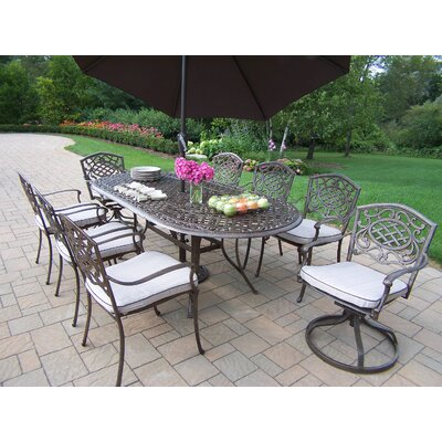 Oakland Living Mississippi Dining Set with Cushions