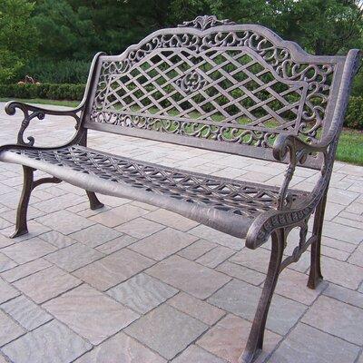 Innova Hearth And Home Cast Aluminum Garden Bench Reviews Wayfair