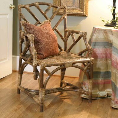 Rattan Chippendale Arm Chair