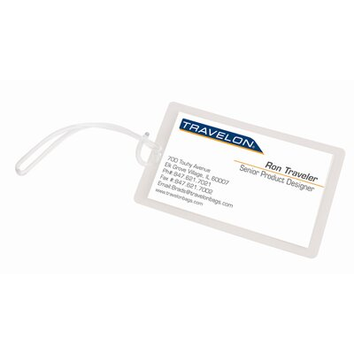 Travel Security Self-Laminating Luggage Tags (Set of 10)