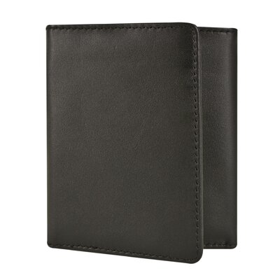 RFID Blocking Leather Trifold Wallet
