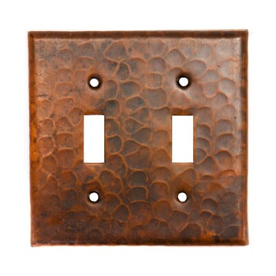 Premier Copper Products Copper Switchplate Double Toggle Switch Cover in Oil Rubbed Bronze