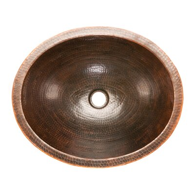 Premier Copper Products Oval Skirted  Vessel Bathroom Sink