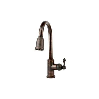 Premier Copper Products Hammered Apron Single Basin Kitchen Sink with ORB Pull Down Faucet, Drain and Accessories