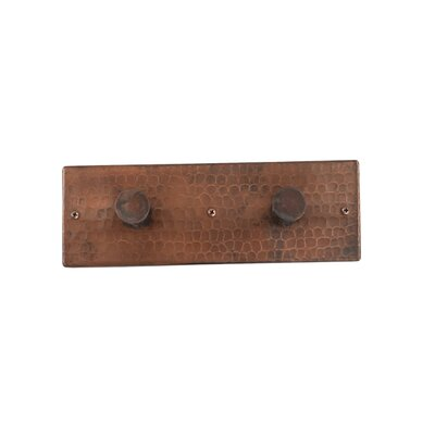Premier Copper Products Double Robe Hook