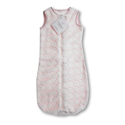Swaddle Designs zzZipMe Sack in Pastel Pink Puff Circle