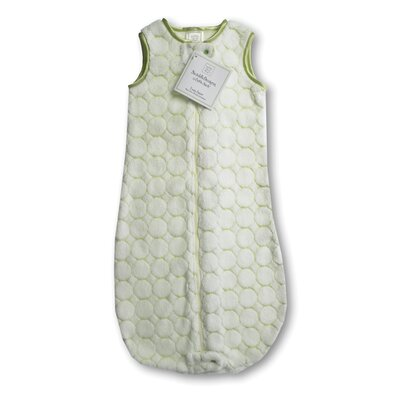 Swaddle Designs zzZipMe Sack in Pastel Kiwi Puff Circle