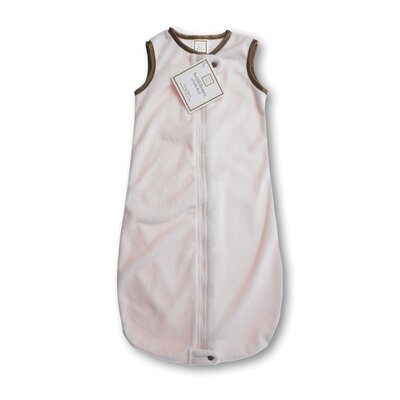 Swaddle Designs zzZipMe Sack in Pastel Pink Baby Velvet Solid Pastel with Mocha Trim