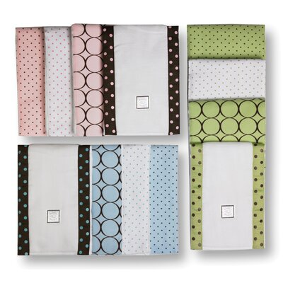 Swaddle Designs Baby Burpies® in Pastel with Brown Mod Circles (Set of 2)