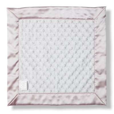 Baby Lovie Plush Dot Blanket with Pastel Trim